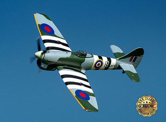 """H-King Hawker Tempest 800mm (31.5"""") w/6 Axis ORX Flight Stabilizer (PNF)"""