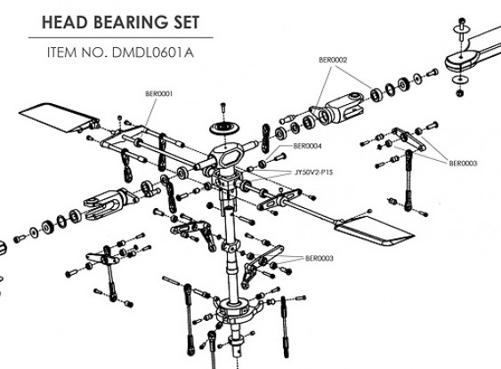 Ceramic bearing upgrade kit for HK-500 (Head)