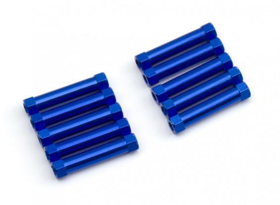 Lightweight Aluminium Round Section Spacer M3x25mm (Blue) (10pcs)