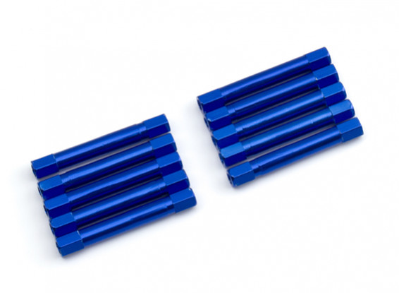 Lightweight Aluminium Round Section Spacer M3x37mm (Blue) (10pcs)