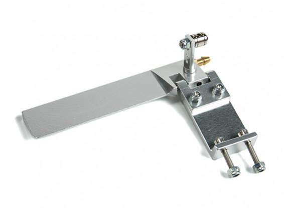CNC Aluminium Boat Rudder w/Water Pick-up L95mm x W43mm