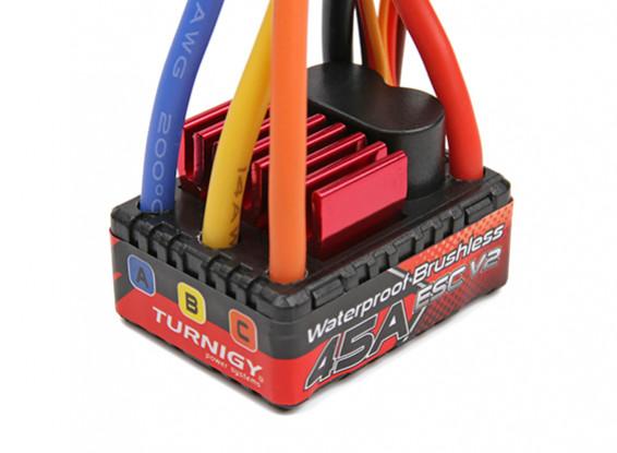 TrackStar 1/10th Brushless Sensorless 45A Waterproof ESC V2
