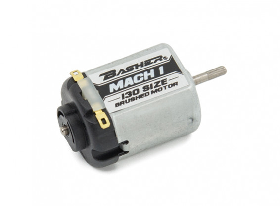 Basher Mach1 130 Size Brushed Motor (Black)