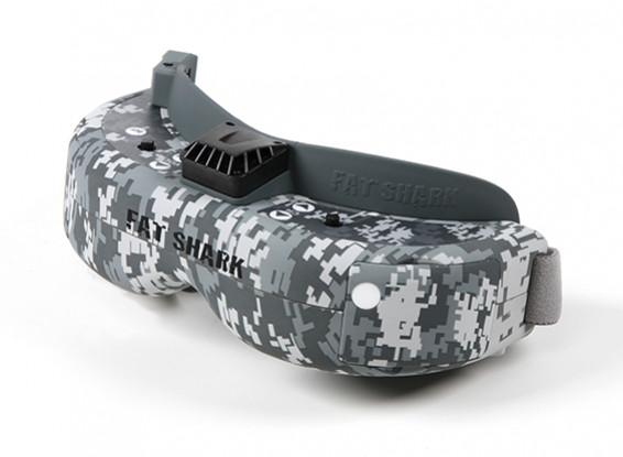 FatShark Dominator HD 2 Hydro-Dipped Urban Cam Grey and White FPV Goggle