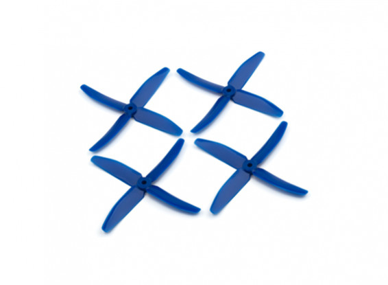 """Dalprops """"Indestructible"""" PC 5040 4-Blade Props Blue (CW/CCW) (2 pairs)"""
