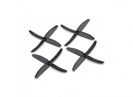 """Dalprops """"Indestructible"""" PC 5040 4-Blade Props Black (CW/CCW) (2 pairs)"""