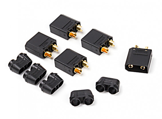 Nylon XT90 Connectors Male (5 pcs/bag) Black
