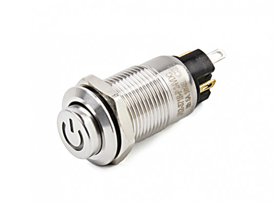 Stainless Steel 316 12mm Illuminated Off/On Switch