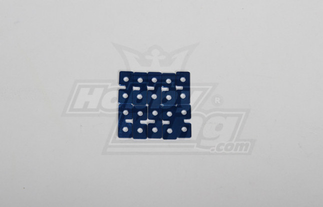 Metal Servo Plate (Blue) 10pcs