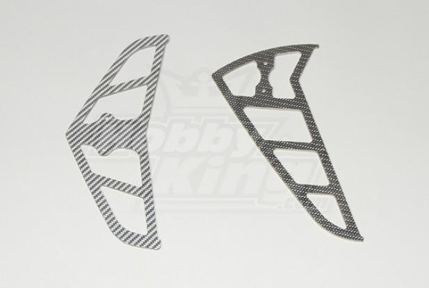 Grey Carbon Fiber Fins for Raptor 30/50 (2mm)