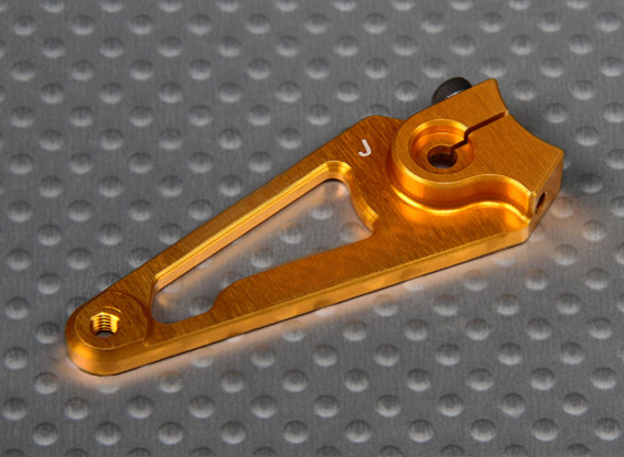 CNC Heavy Duty 1.5in Aluminium Servo Arm - JR (Gold)