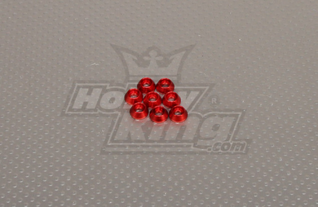 CNC Cap Bolt Washer M3 (3.5mm) Red