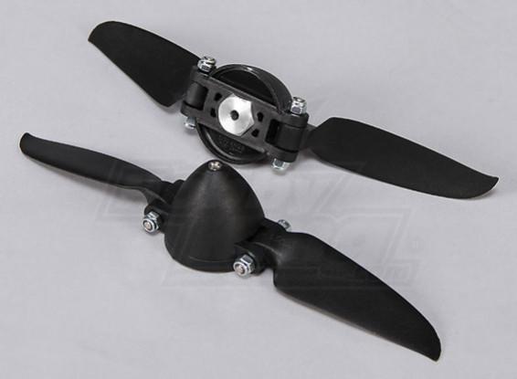 Folding Propeller W/Hub 35mm/3mm Shaft 6.5x3 (2pcs)