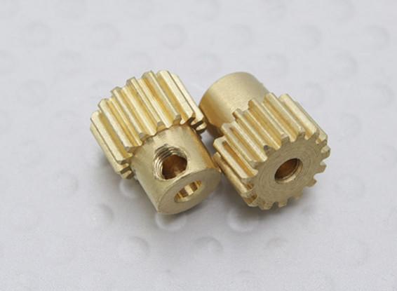 15T Motor Pinion (2Pcs/Bag) - A2003, 110BS, A2010, A2027, A2028, A2029 and A2035