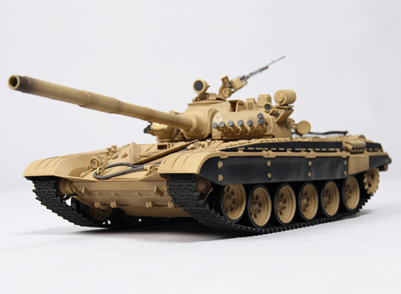 T-72M1 Battle RC Tank RTR w/ Tx/Sound/Infrared (Desert)