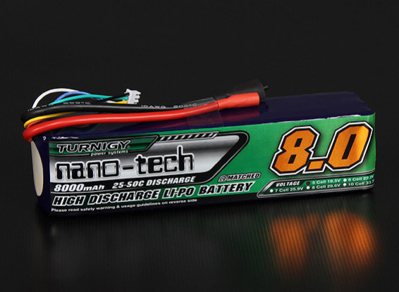 Turnigy nano-tech 8000mAh 5S 25~50C Lipo Pack