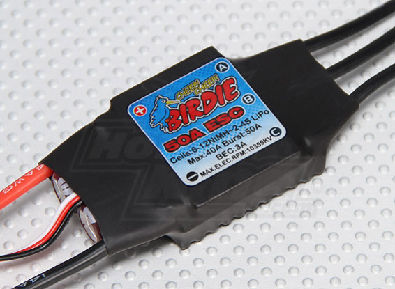 Birdie 50A Brushless ESC w/ 3A BEC