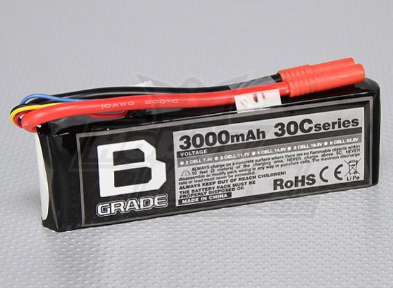 B-Grade 3000mAh 3S 30C Lipoly Battery