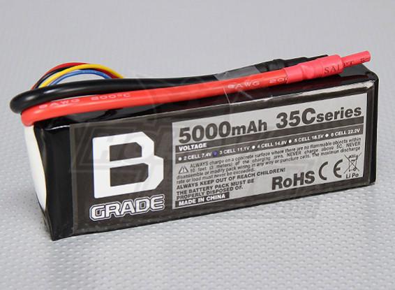 B-Grade 5000mAh 3S 35C Lipoly Battery