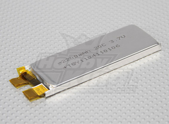 Turnigy 2200mAh 1S 20C Lipoly (Single Cell)