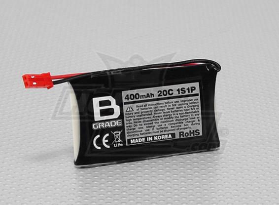 B-Grade 400mAh 1S 20C Lipoly Battery