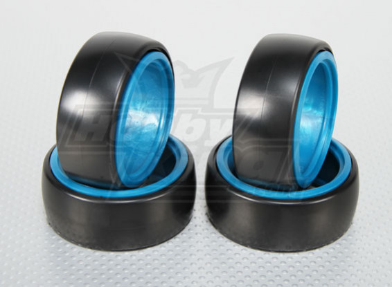 1:10 Scale Hard Plastic Drift Tires w/Soft Removable Inserts RC Car 26mm