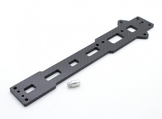 Upper Chassis Plate (carbon fiber) w/hardware - A2003T, 110BS and A2010