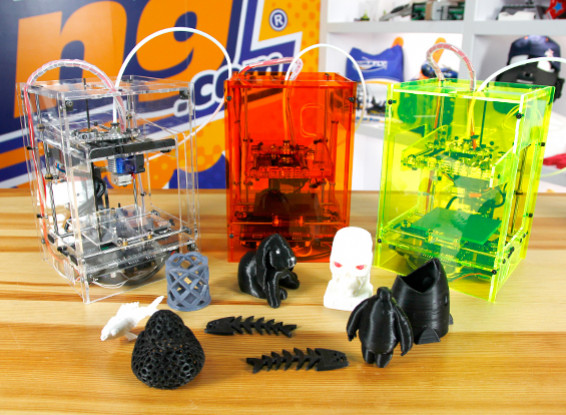 Mini Fabrikator 3D Printer by Tiny Boy - Transparent - UK 230V
