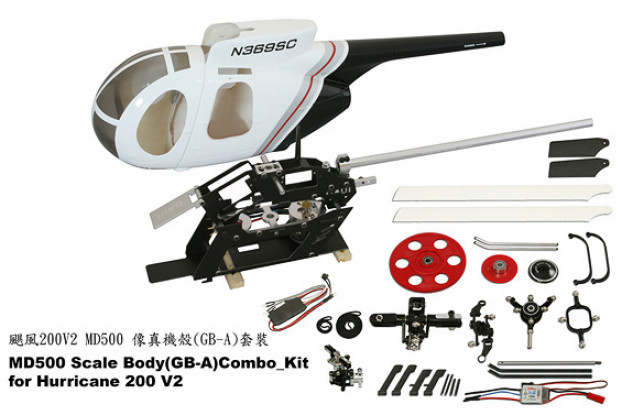 Gaui Hurricane 200 MD500-(GB-A)-Combo