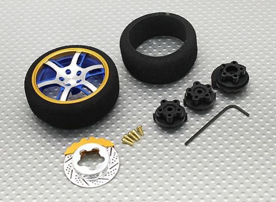 Alloy Pistol Transmitter Turning Wheel 6 Dual Spoke (blue)