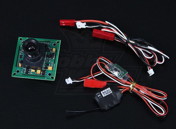 FPV Transmitter & 1/3-inch CCD camera NTSC (520TVL)