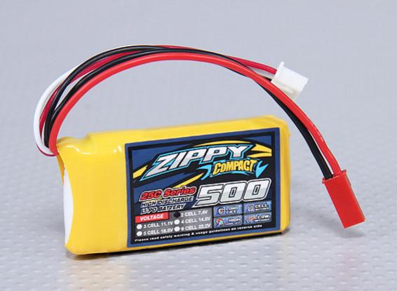 ZIPPY Compact 500mAh 2S 25C Lipo Pack