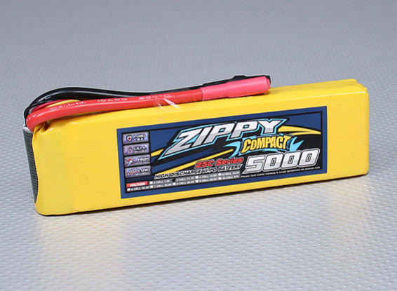 ZIPPY Compact 5000mAh 3S 25C Lipo Pack