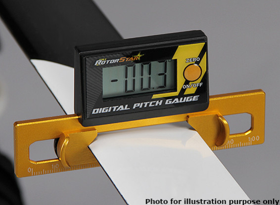 RotorStar Digital Pitch Gauge for Helicopters (250~700 size)