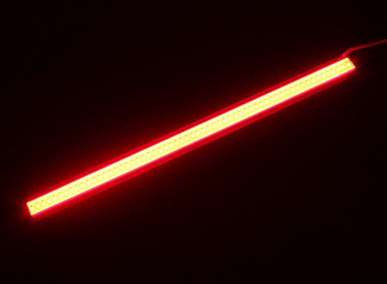5W Red LED Alloy Light Strip 120mm x 10mm (2S-3S Compatible)
