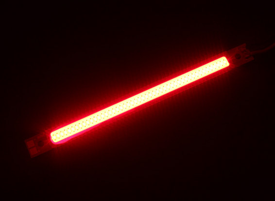 3W Red LED Alloy Light Strip 120mm x 10mm (2S-3S Compatible)