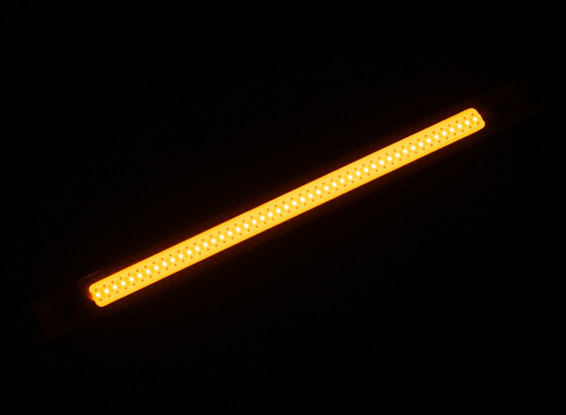 3W Yellow LED Alloy Light Strip 120mm x 10mm (2S-3S Compatible)