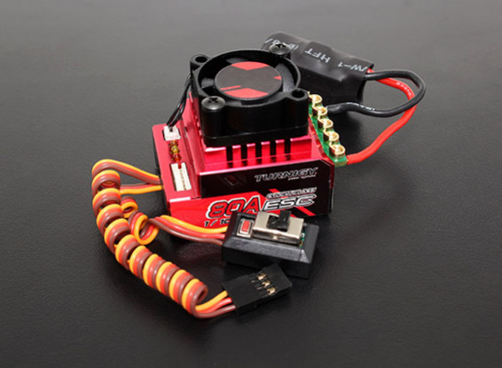Turnigy Trackstar 80A Turbo Sensored Brushless 1/12th 1/10th ESC (ROAR approved)