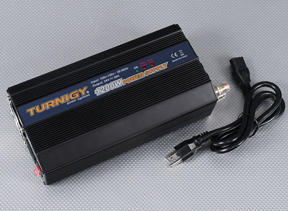Turnigy 1200W 100~120V Power Supply (24VDC - 50amp)