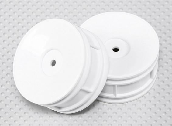 1:10 Scale Wheel Set (2pcs) White Dish Style RC Car 26mm (no offset)