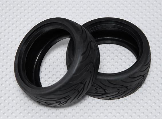 1:10 Scale Rubber Touring Car Tires w/Tread 26mm - Medium Compound (2pcs)