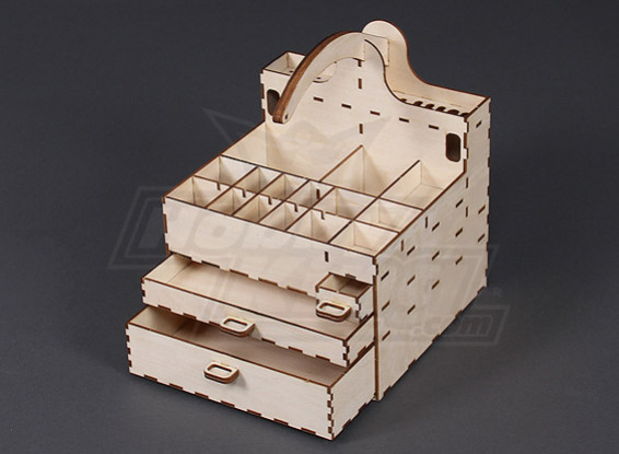 Self Assembly Laser Cut Ply Toolbox 235mm x 200mm 200mm
