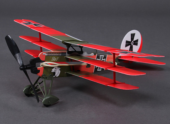 Rubber Band Powered Freeflight Dr-1 Model 437mm Span w/Electric Winder