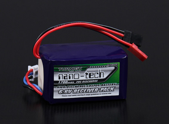 Turnigy nano-tech 1700mAh 2S2P 20~40C LiFePo4 Receiver Pack