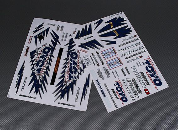 Self Adhesive Decal Sheet - Toyo 1/10 Scale