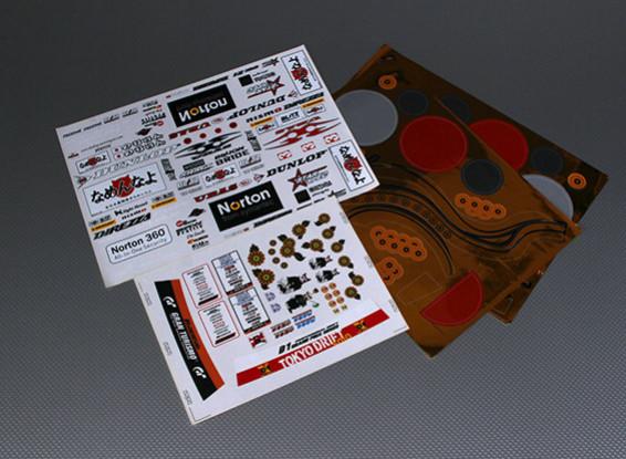 Self Adhesive Decal Sheet - Norton 1/10 Scale