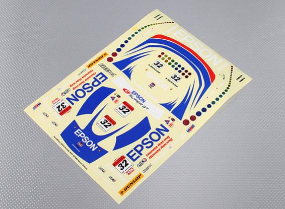 Self Adhesive Decal Sheet - Epson Racing 1/10 Scale