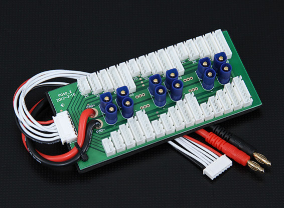 HobbyKing Parallel charging Board for 6 packs 2~6S (EC3)