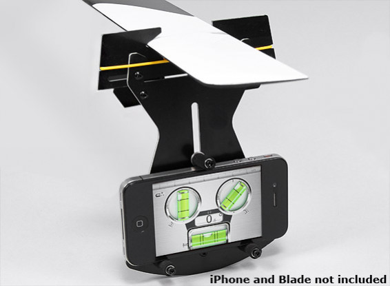 Flybarless Helicopter Pitch Gauge for use w/Smartphone