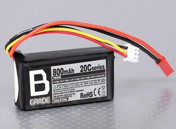 B-Grade 800mAh 2S 20C Lipoly Battery